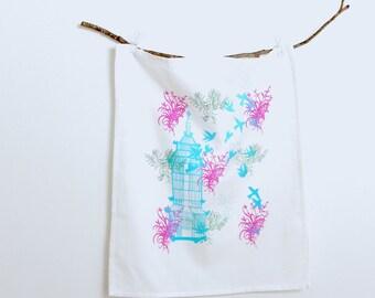 LIMITED EDITION  -Hand Screen Printed - Tea Towel