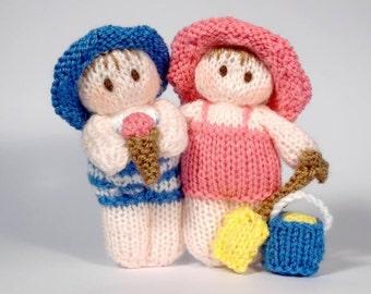 Bitsy Summer Beach Baby doll knitting pattern