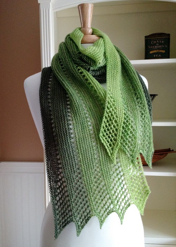 French Knitting Scarf : Lace scarf knitting pattern pdf mistral french