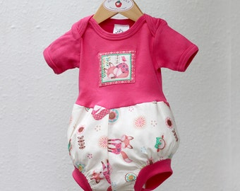 Woodland Animal Baby Girl Romper Baby Girl Clothes Kid Fox Owl Baby Girl Bubble Romper Unique Baby Girl Gift Baby Romper 3 6 9 12 18 24 m