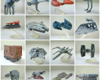 Star Wars Micro Machines Toys - Customizable Star Wars Gift, CHOOSE YOUR SHIP, Miniature Toys, Millennium Falcon, X-Wing, At-At Walker, More