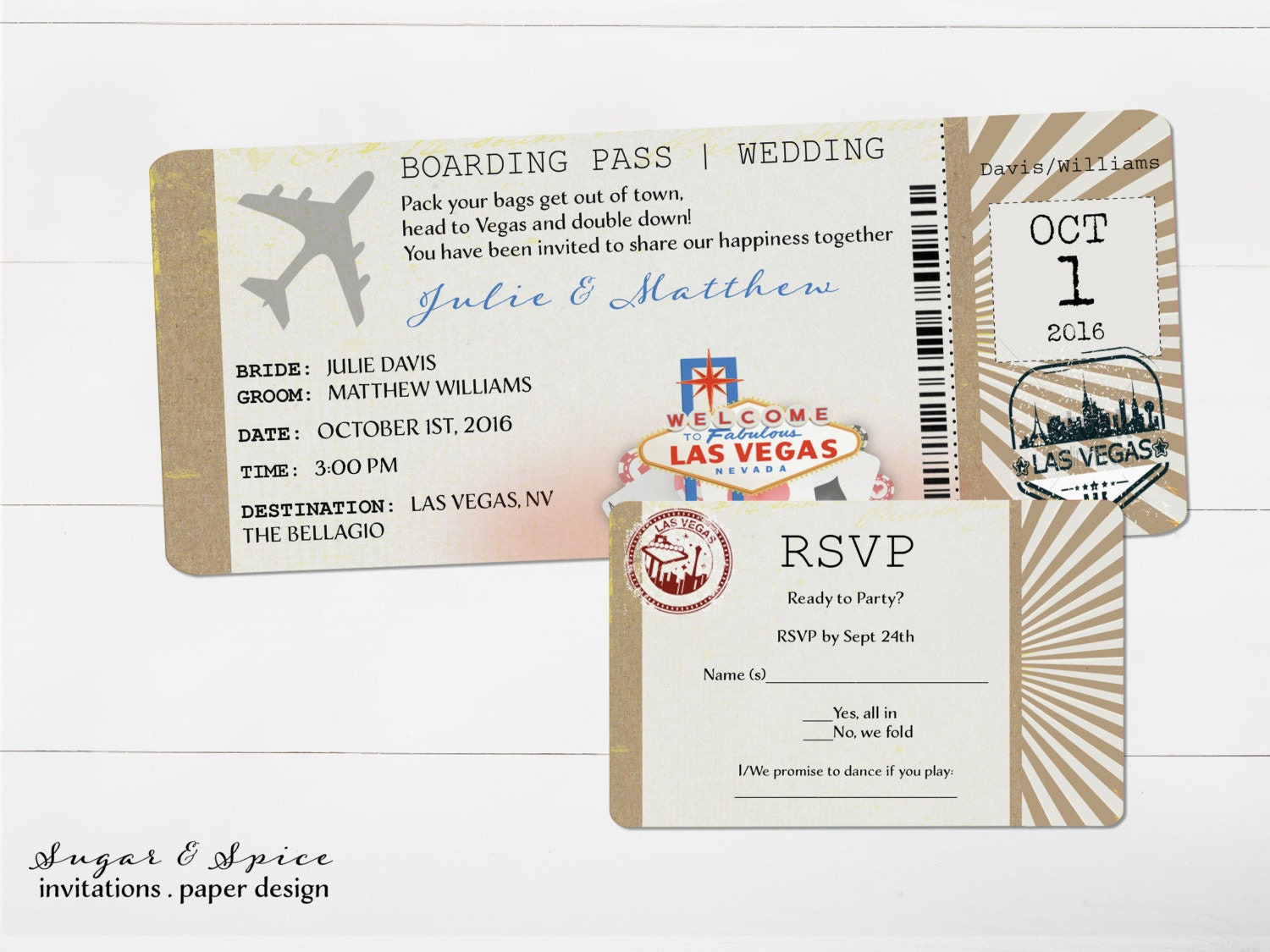 Las Vegas Wedding Invitation Wording: Las Vegas Wedding Invitation Destination By