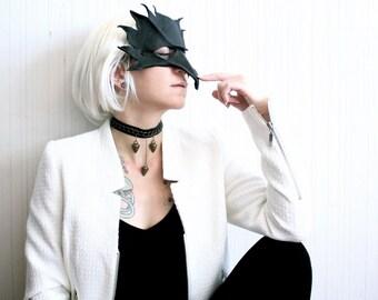 spike leather choker | chain choker | black choker necklace | spike necklace | punk jewelry | leather collar | goth choker | spike pendant