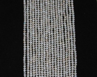 Pearl, Freshwater Pearl, Potato Pearl, Creamy White, Full Strand, 5mm