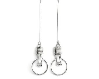 Unusual Jewelry, Science Jewelry, Teacher Gift Idea, Geek Jewelry, Novelty Earrings, Geekery Jewelry, Light Bulb Earrings Lightbulb Earrings