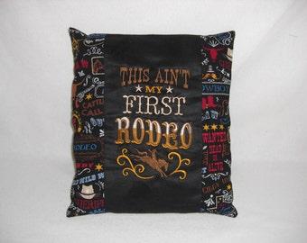 Western Embroidered Black Suede & Cotton Pillow, Cabin Decor, Lodge Decor, Rodeo, Cowboy, Decorative Pillow, Accent Pillow, Western Decor