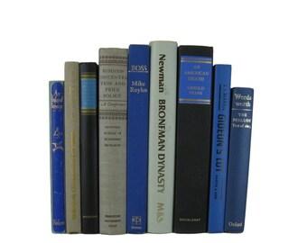 Black Blue Taupe Decorative Books , Black Vintage Books , Home Decor , Old Books , Vintage Photo Props , Table Setting , Wedding Decor