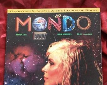 Mondo 2000 Magazine #3 Winter 1991 Cyberpunk Hackers Neurozine Quantum Futurist Psych Music Burroughs RU Sirius Drug Memes EFF Electronic