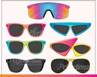 Printable 80s Sunglasses Photo Booth Prop | Printable 80s Props | Instant Download | 80s Photo-Booth Glasses