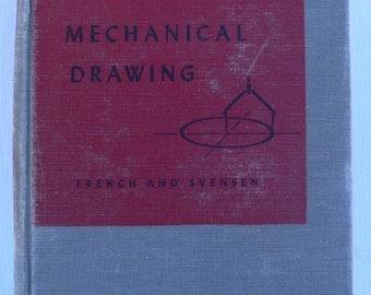 vintage textbook, Mechanical Drawing, 1948, from Diz Has Neat Stuff