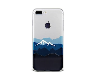 Blue Mountains iPhone 7 Plus case Clear iPhone 7 case, iPhone 6s plus case, Soft silicon case- TS7P042U