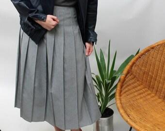 Black and White Houndstooth Pleated Midi Skirt Size UK 8, US 4, EU 36