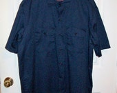 Vintage Men's Navy Blue Work Shirt by Dickie's XL Only 6 USD