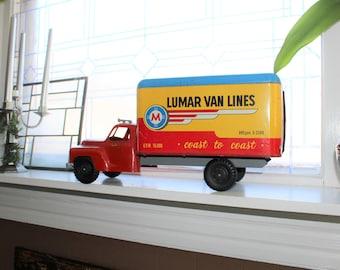 Marx Toy Truck Studebaker Lumar Van Lines 1950s