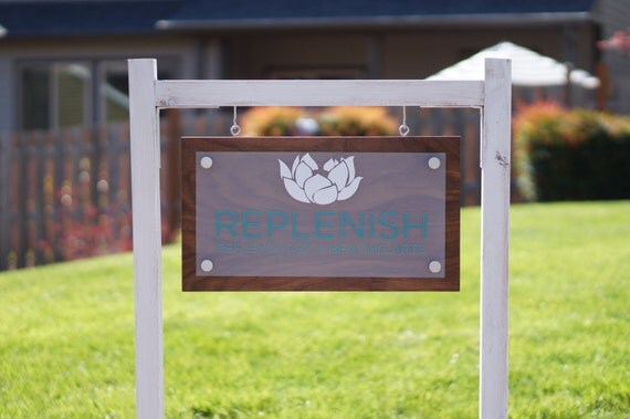 Custom Outdoor Business Sign And Yard Post Optional 10 X
