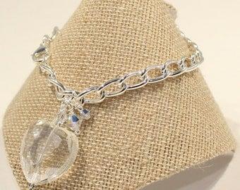 Heart Bracelet  Heart Jewelry Crystal Heart Bracelet Swarovski Crystal Bracelet  Heart Charm Bracelet Valentine Bracelet Valentine Gift