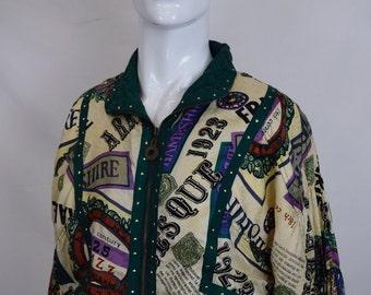 Vintage Parisian Silk Shell Jacket