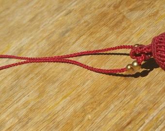 Cactus Quartz Macrame Pendant Necklace