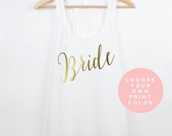 Bride Tank Top, Wedding Shirt, Bride Shirt, Mrs Tank, Bachelorette Shirt, Bride Gift, Wedding Tank Top, Bridal Gift Top