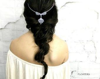 Bridal Headband, Bridal Headpiece, Crystal Headband, Wedding Hair Jewelry
