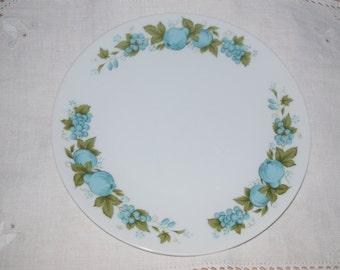 6 noritake blue orchard salad/luncheon plates