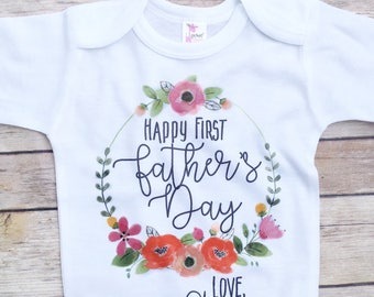 ON SALE Father's Day gift from daughter, First Father's Day, Baby Girl Father's Day Outfit, personalized father's day gift, gift for dad