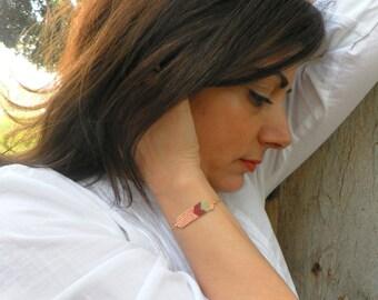 20% OFF, Miyuki Bracelet, Boho Bracelet, Peach bracelet, Bead bracelet, Ethnic Beaded Bracelet, Dainty Bracelet, Gift women
