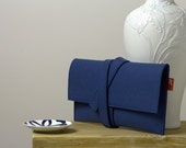 Blue clutch, blue pochette, felt clutch, felt pochette, blue felt clutch, womens gift, womens clutch, womens pochette.