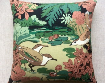 Vintage'The Dippers' By GP & J Baker Ltd Fabric Cushion With Interior 40cm x 40cm