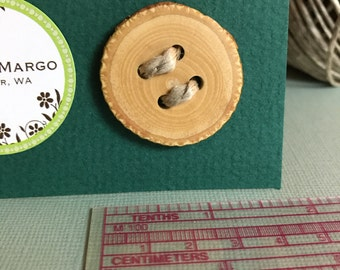 Large Handmade Wood Button.  Free shipping on orders of 10 dollars or more- see details.