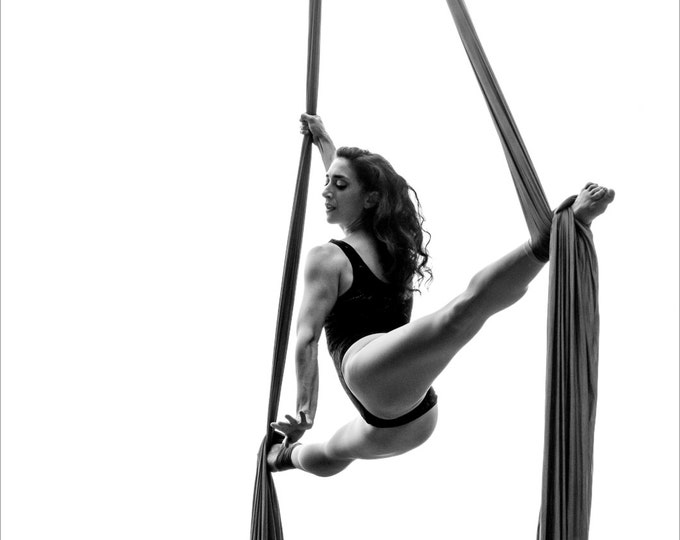 Featured listing image: Dance, Aerialist, Aerial Arts, Silks, Tissue, Live, Performance, Giclée Print, Archival, Photography, Black and White