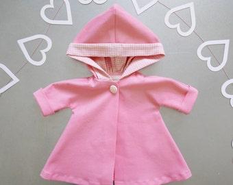 Pink Retro Swing Coat fits 18 inch American Girl dolls
