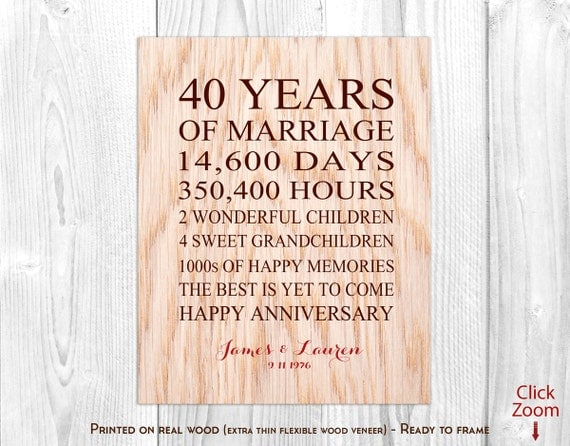 What Gift For 40th Wedding Anniversary: 40th Wedding Anniversary Gift 40th Ruby Anniversary Gift 40