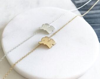 Elephant Necklace, Elephant Jewelry, Good Luck Necklace, Animal Jewelry, Minimal Necklace, Simple Jewelry