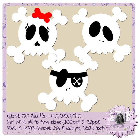 Giant Skulls, skeleton, skull, emo, pirate, cute skull, monster high, halloween, funny skull