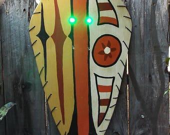 Trader Sam's Shield from the Jungle Cruise at Disneyland.
