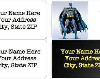 BATMAN Personalized Address Labels - Choice of 4 Images!