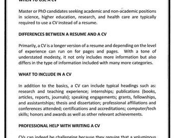 The Custom Curriculum Vitae