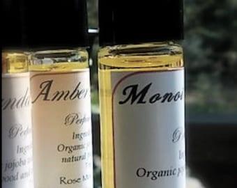 Monoi Perfume Oil - Organic Jojoba - Tiare Flower Perfume - Gardenia - Handmade Roll On Perfume
