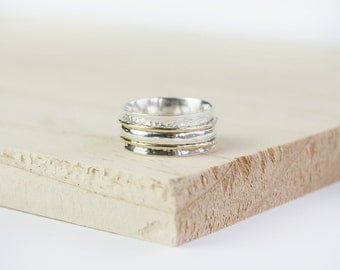Piper spinner ring, spinning ring, worry ring, fidget ring, anxiety ring, meditation ring, anxiety jewelry, spin ring, meditation rings