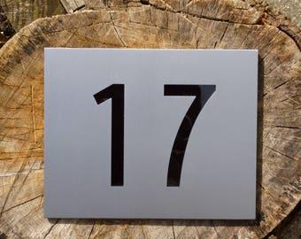 Plain Mackintosh House Number Plaque
