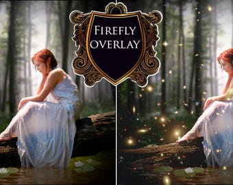 Firefly overlay Fireflies overlays Photoshop layers Fairy Tale Photo effect Digital Photoshop