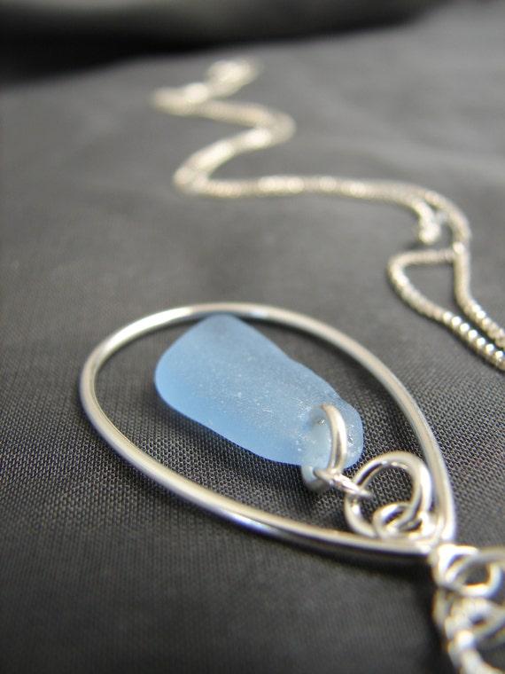 Sea Keeper sea glass necklace