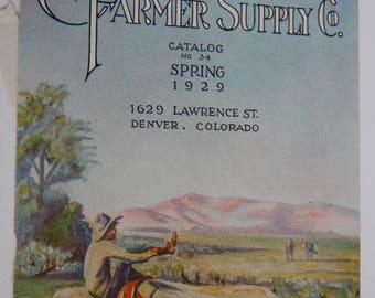 Stockman Farmer Supply Co. Magazine Cover, Advertising Spring 1929