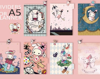Sentimental Circus .... dividers for A5 planner