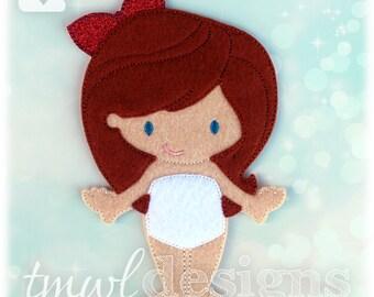 Clara Nutcracker Ballet Felt Paper Doll Toy Digital Design File - 5x7