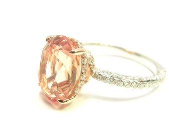 Blake Lively ring  - 14K  gold and natural diamond engagement ring setting. Matching wedding bands available