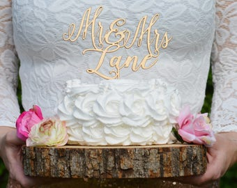 Gold Cake Topper Mr And Mrs, Last Name Cake Topper, Custom Wedding Cake Topper, Personalized Toppers, Family Name Toppers