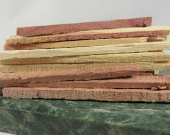 Eastern Red Cedar Sticks, 75 pieces for preparing khernips or incense by The Hellenic Handmaid. All natural, hand cut wood incense