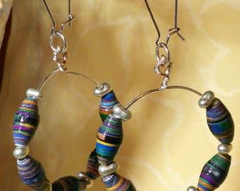Carmen - earrings with paper beads